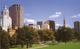 Hartford as viewed from Bushnell Park