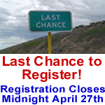 Don't miss out! Register by April 27th at Midnight!